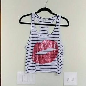 Forever 21 racerback graphic tank